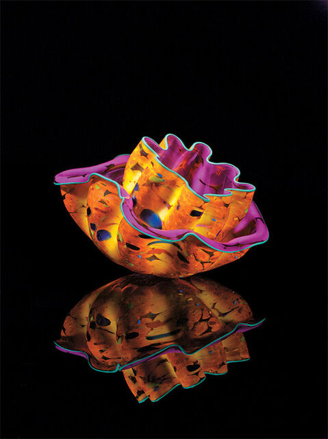 Dale Chihuly, Brandywine Macchia Pair Studio Edition, 2012. © Dale Chihuly Studio. Courtesy of Galerie de Bellefeuille.