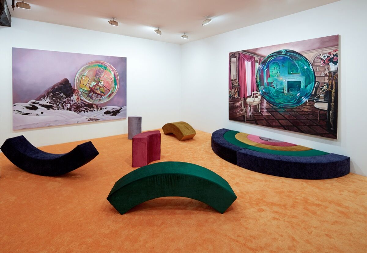 """Ariana Papademetropoulos, installation view of """"Ariana Papademetropoulos: Unweave a Rainbow"""" at Vito Schnabel Gallery, New York, 2020. © Ariana Papademetropoulos. Photo by Argenis Apolinario. Courtesy of Ariana Papademetropoulos and Vito Schnabel Gallery."""
