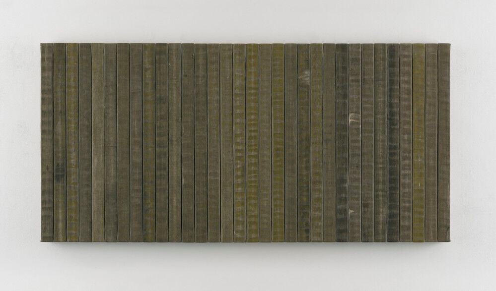 "One of Theaster Gates's ""Civil Tapestries,"" 2018. © White Cube."