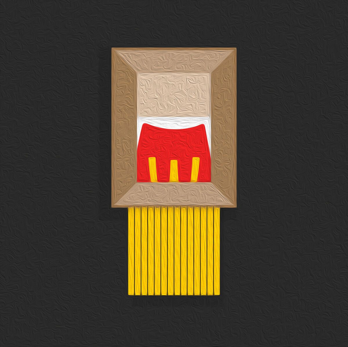 """The """"Framed Fries"""" design created by Richard Agius, Creative Director at TBWA\ANG. Courtesy Richard Agius and TBWA\ANG."""