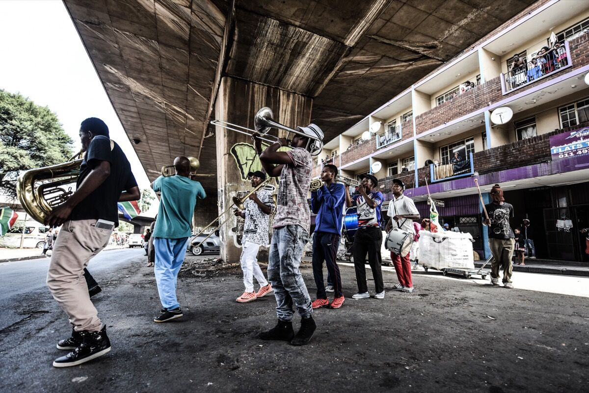 Performance by Ntsoana Dance Company. Photo by Stella Olivier.