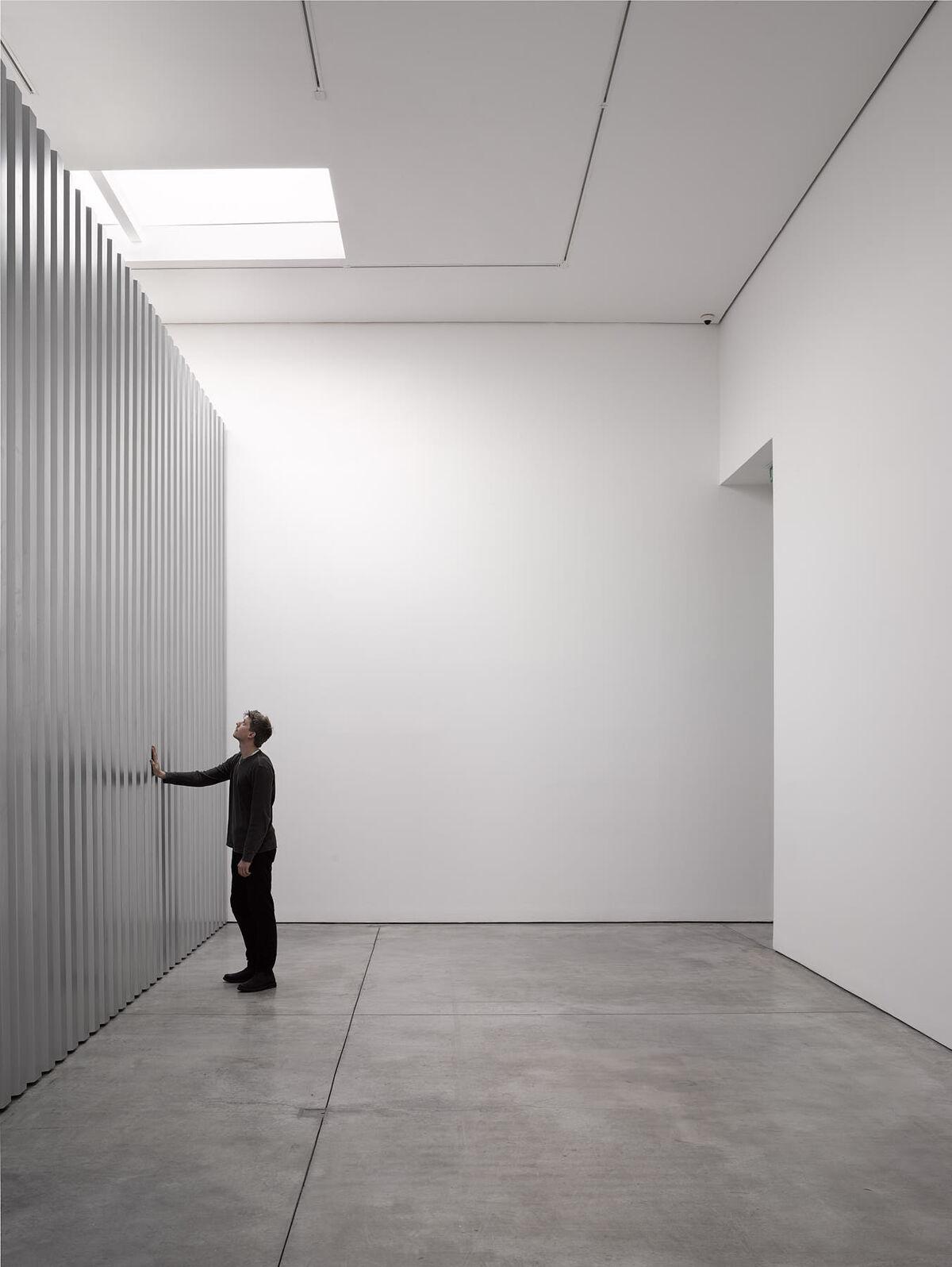 Installation view of Miroslaw Balka, Random Access Memory, at White Cube's Mason's Yard, 2019. © Miroslaw Balka. Courtesy of White Cube and Theo Christelis.