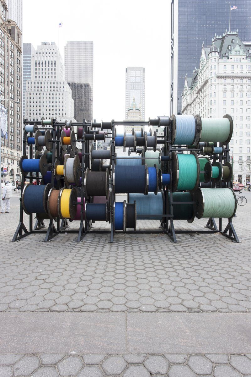 Tatiana Trouvé, Desire Lines, 2015. A project of the Public Art Fund. Metal, wood, ink, and rope. 137 13/16 x 299 3/16 x 374 inches; 350 x 760 x 950 cm. © Tatiana Trouvé. Courtesy of the artist, Gagosian Gallery, New York, and KÖNIG GALERIE, Berlin. Photography by Emma Cole, courtesy Gagosian Gallery.