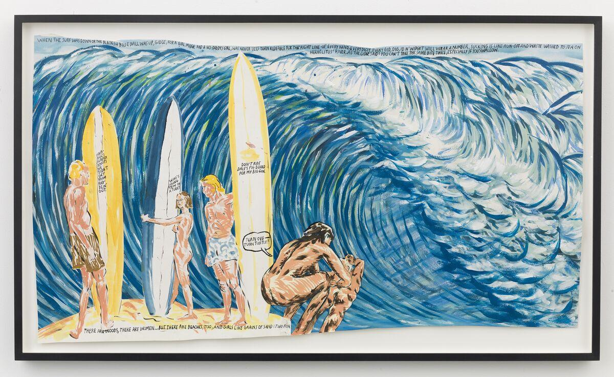Raymond Pettibon, No Title (When the surf...), 2008. Courtesy of David Zwirner, New York.