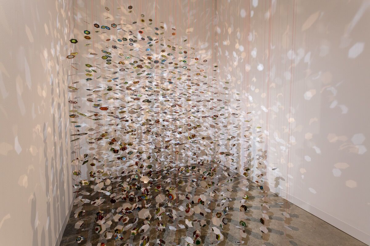 Installation view ofneugerriemschneider's booth at Art Basel in Miami Beach, 2016. Photo by Alain Almiñana for Artsy.