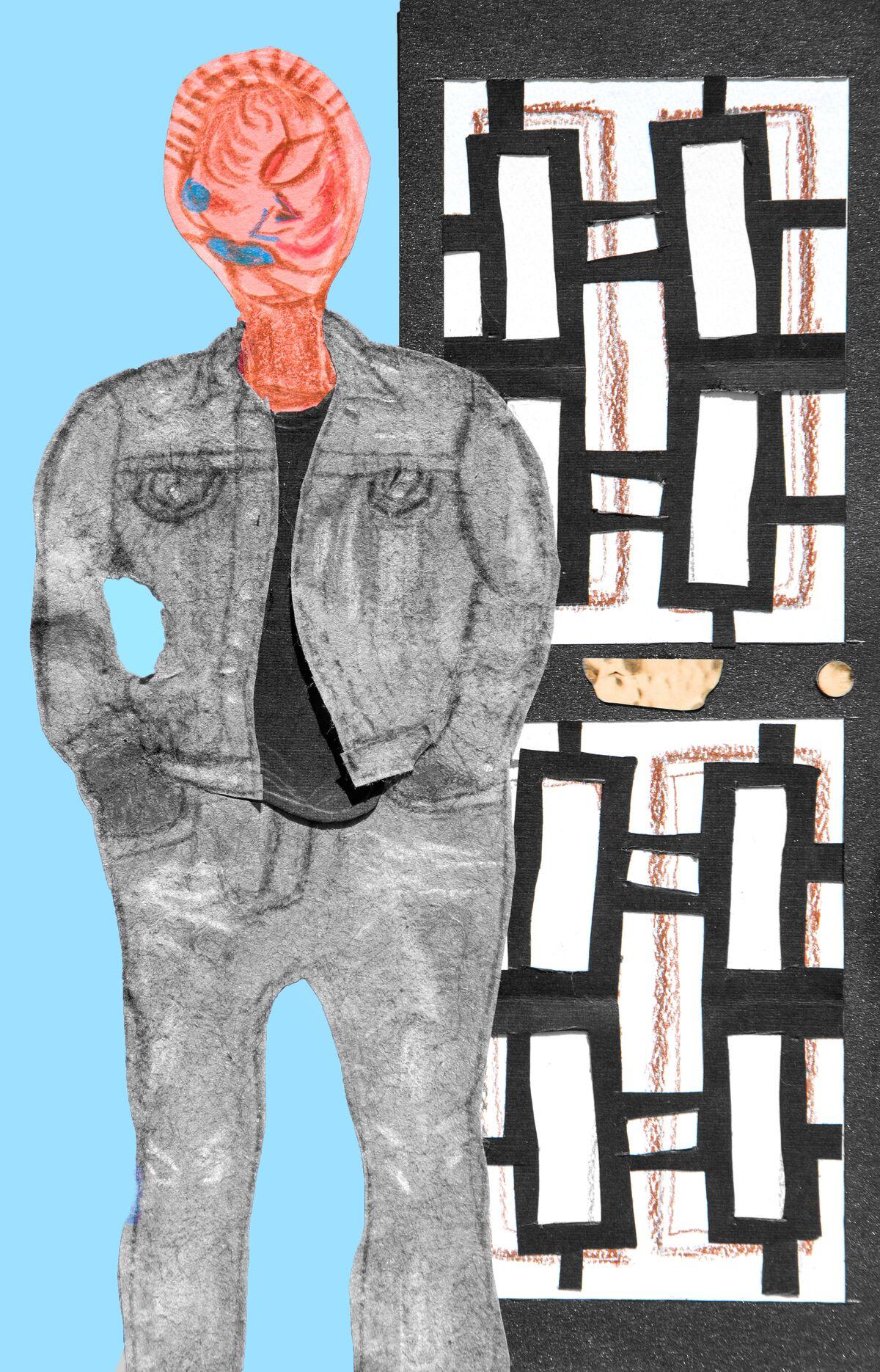 "Detail of Devin N Morris's ""Baltimore Boy"" chapbook, designed with Elliott Brown Jr. Image courtesy of 3 Dot Zine."