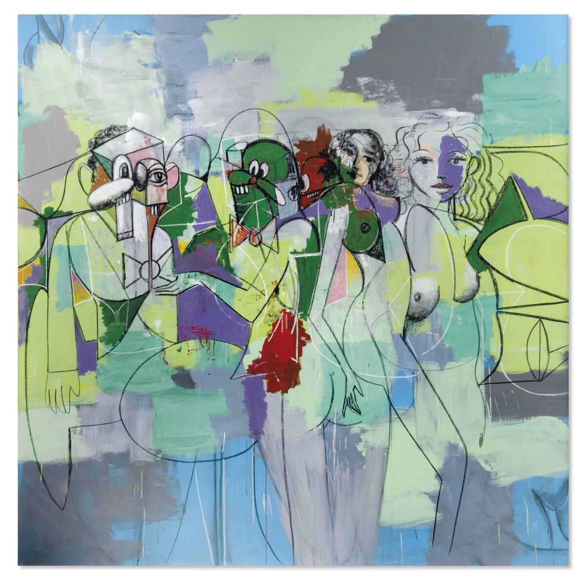 George Condo, Force Field, 2010. Courtesy of Christie's.