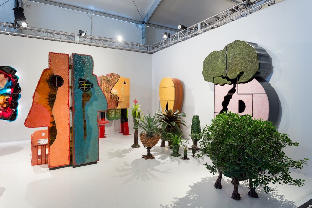 Installation view of Salon 94's booth at Design Miami/, 2016. Photo by Alain Almiñana for Artsy.