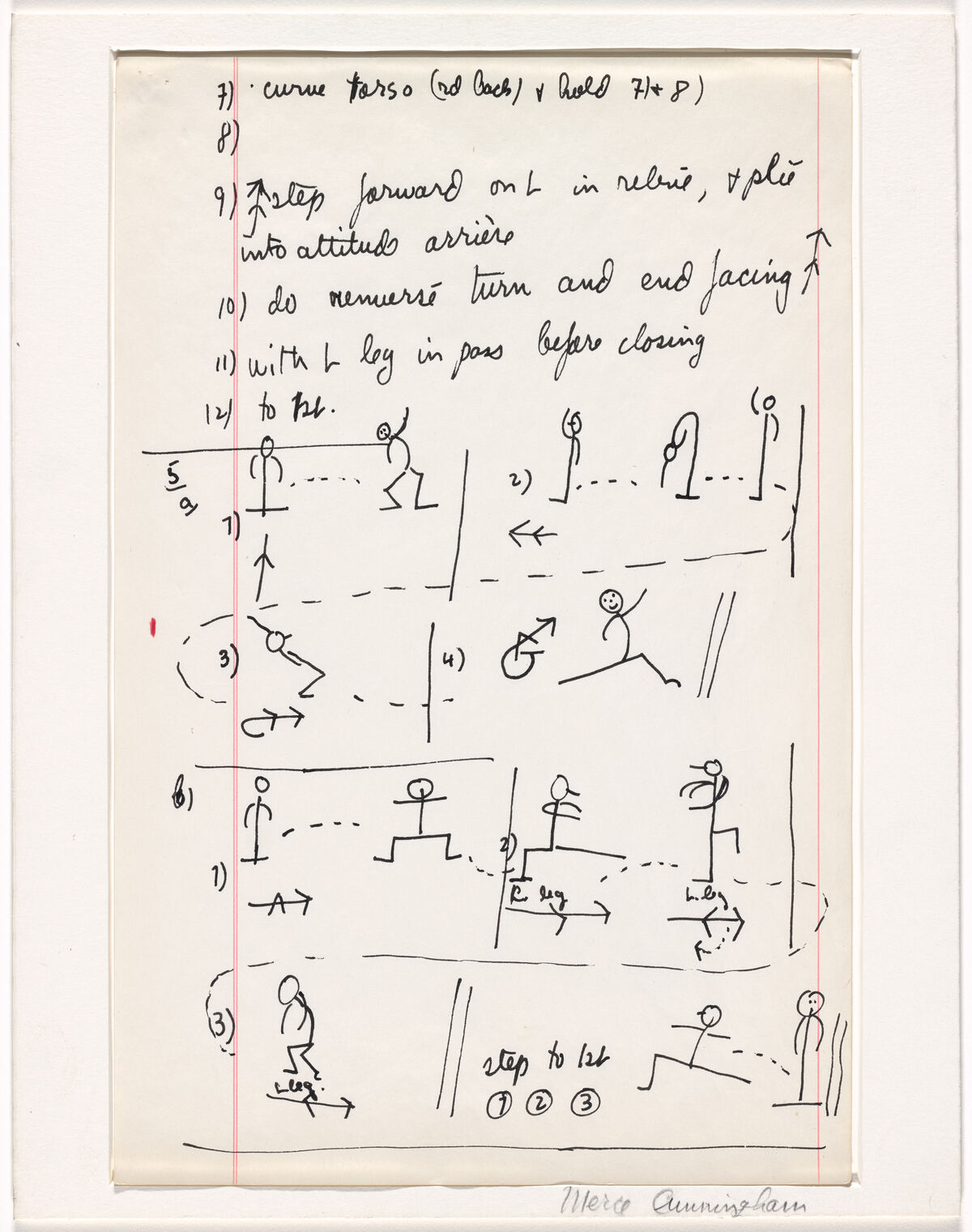 Merce Cunningham.  Aeon (.a).   1961/63. © 2019 Merce Cunningham. Courtesy of the Museum of Modern Art.