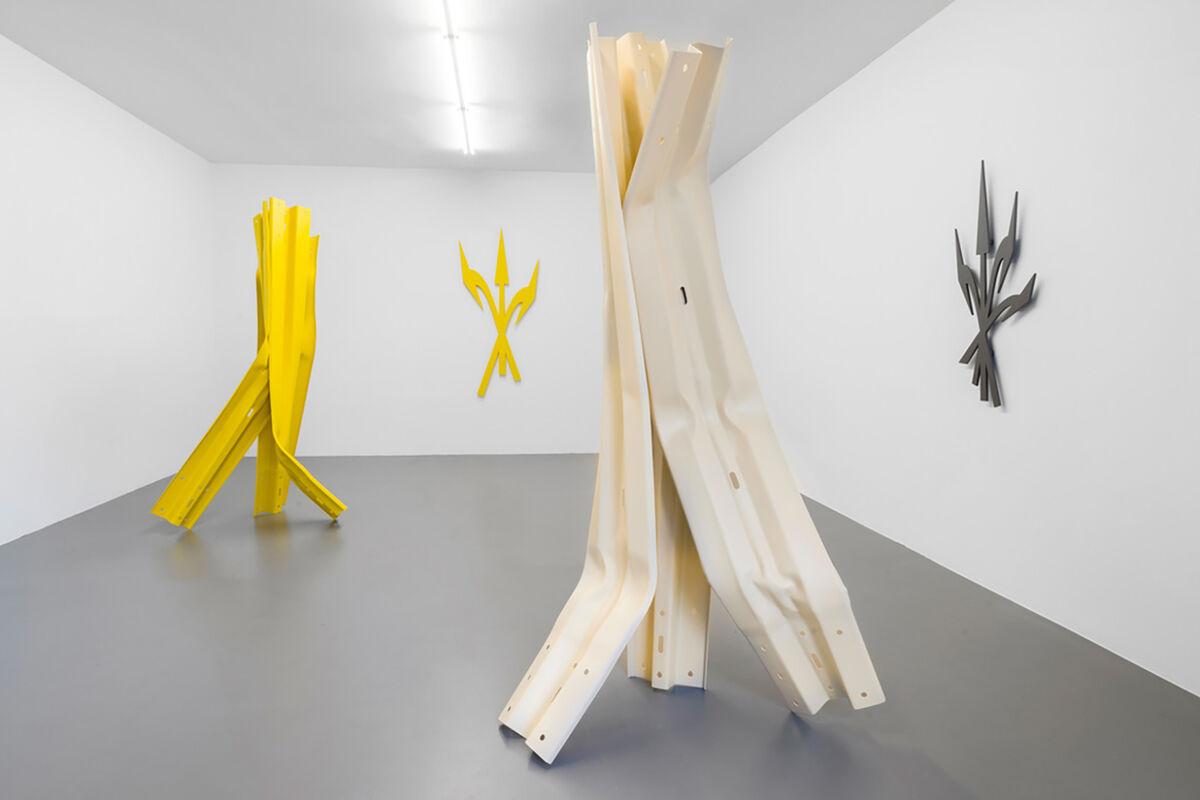 "Bettina Pousttchi, installation view of ""Vertical Highways"" at Buchmann Galerie, 2020. Courtesy of Buchmann Galerie, Mitte."