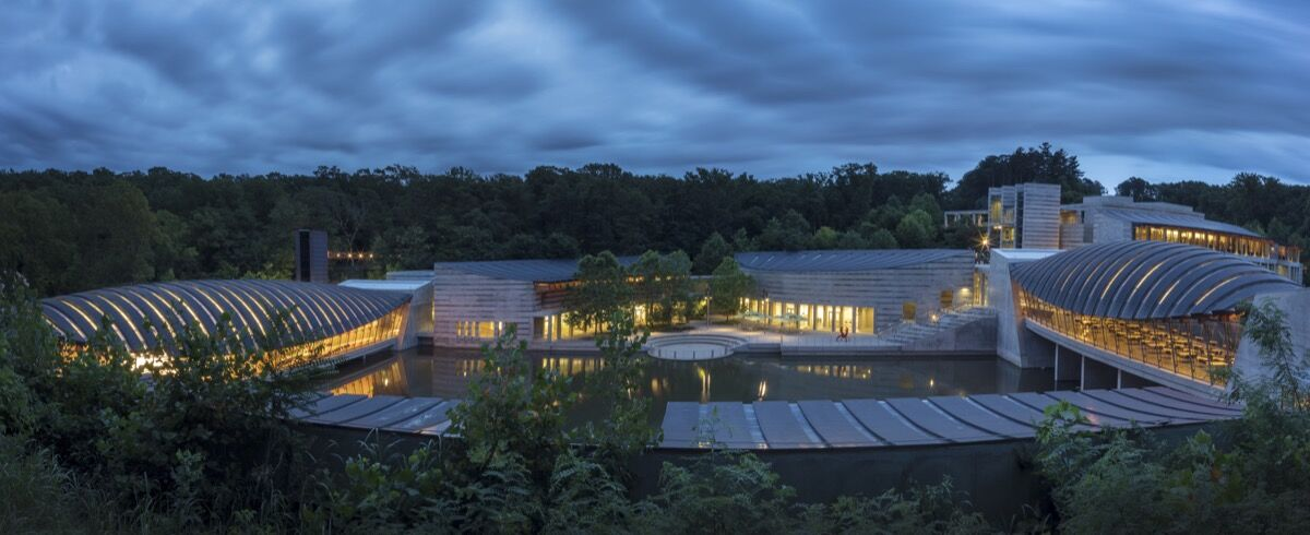 Exterior view of Crystal Bridges Museum of American Art. Courtesy of Crystal Bridges Museum of American Art.