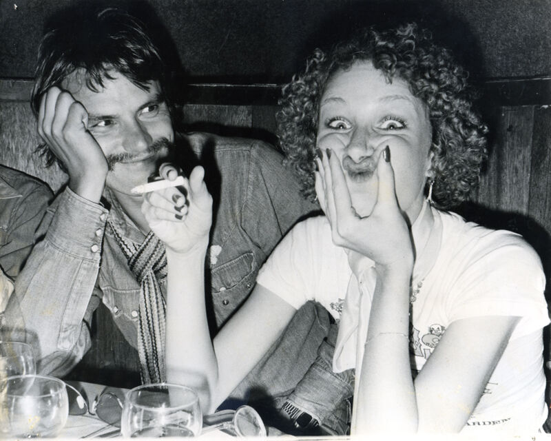 Anton Perich, Olivero Toscani and Donna Jordan at Max's Kansas City, ca. 1970. Courtesy of the artist and Steven Kasher Gallery, New York.