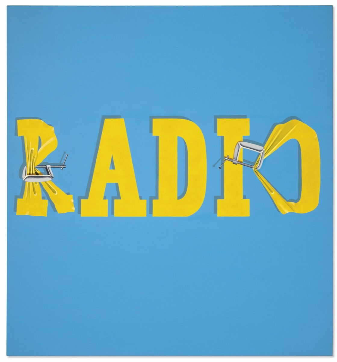 Ed Ruscha, Hurting the Word Radio #2 , 1964. Courtesy of Christie's.