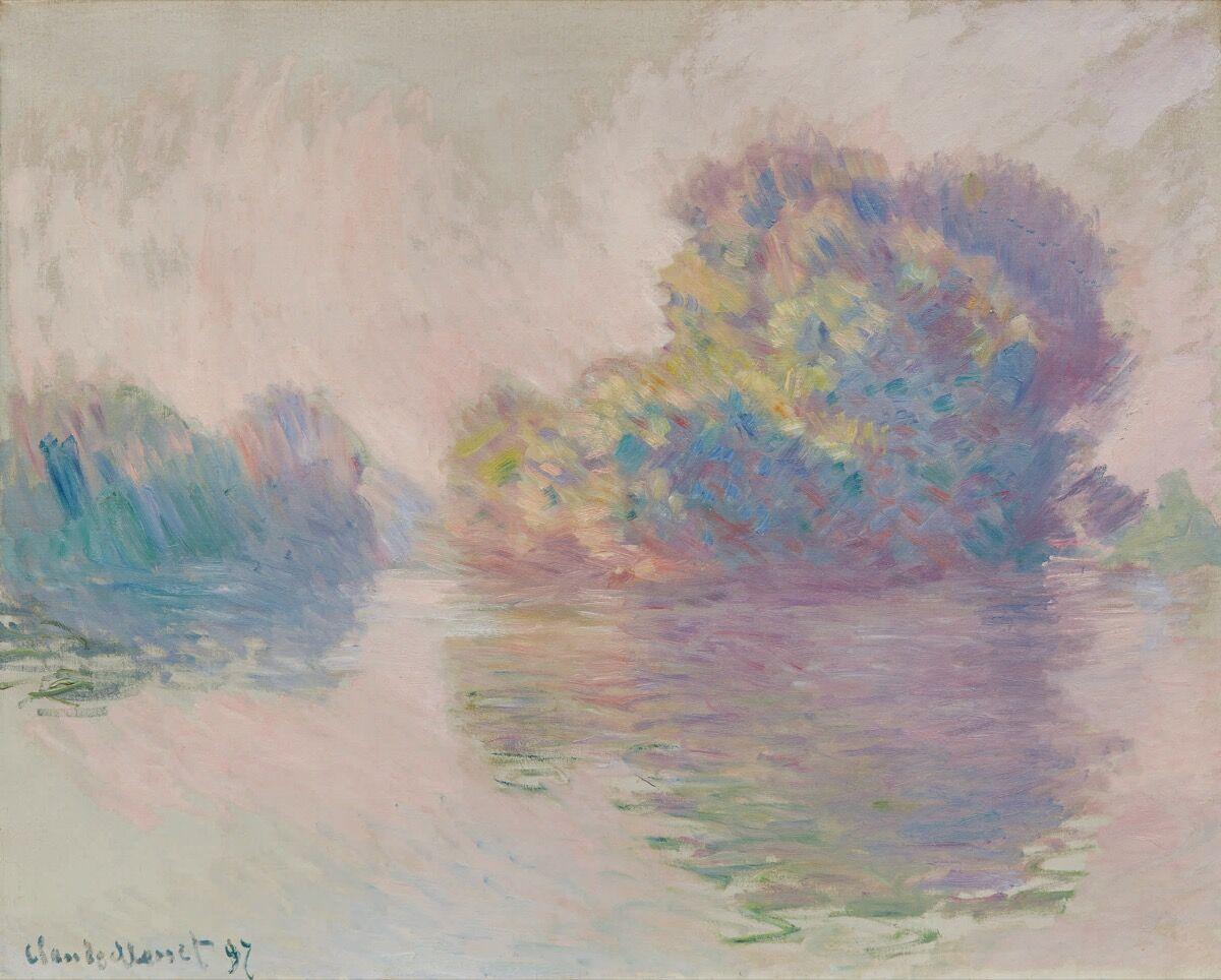 Claude Monet, Les Îles à Port-Villez, 1897. Courtesy of Sotheby's.