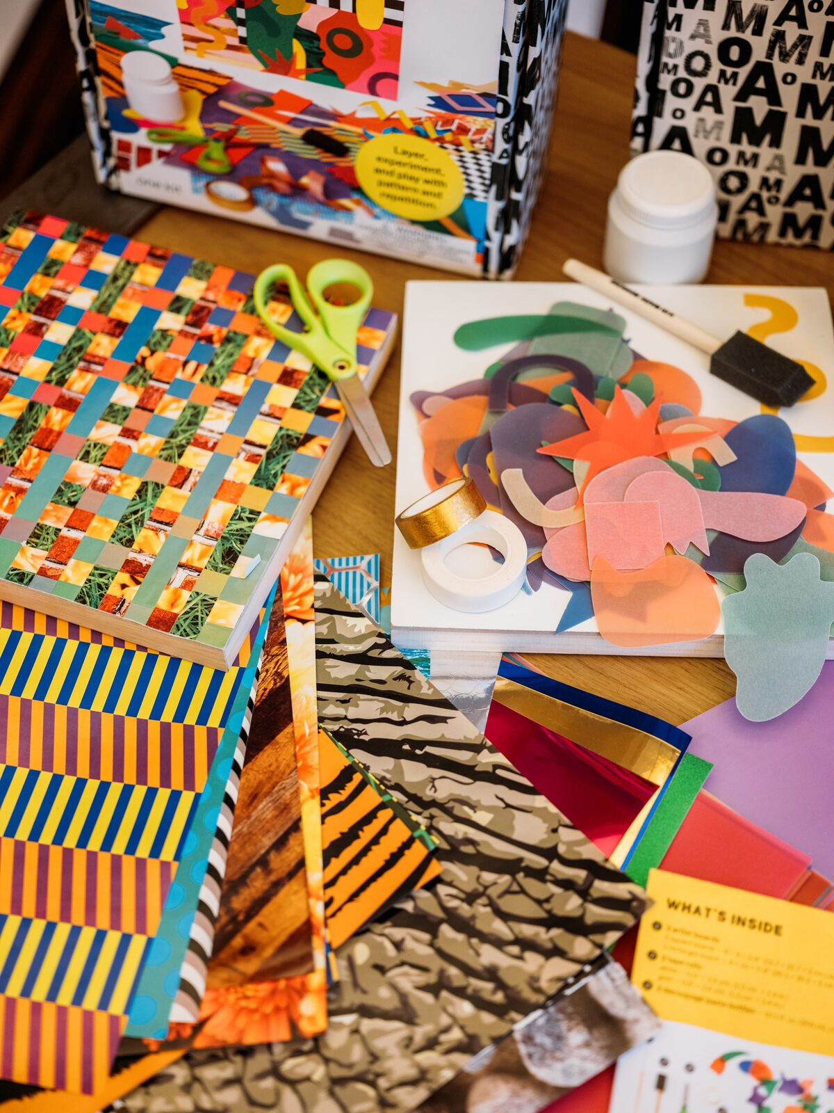 Making with MoMA's art kit. Courtesy of MoMA.