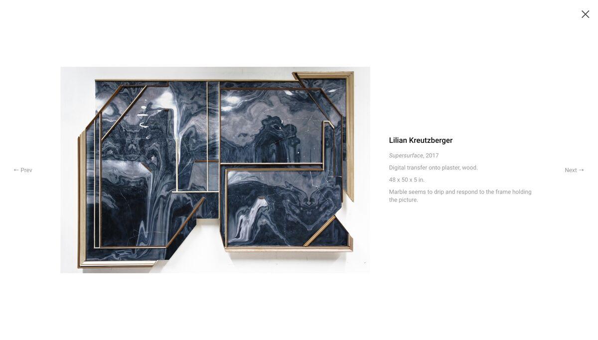 Detail of artist Lillian Kreutzberger's work on Foundwork.art.