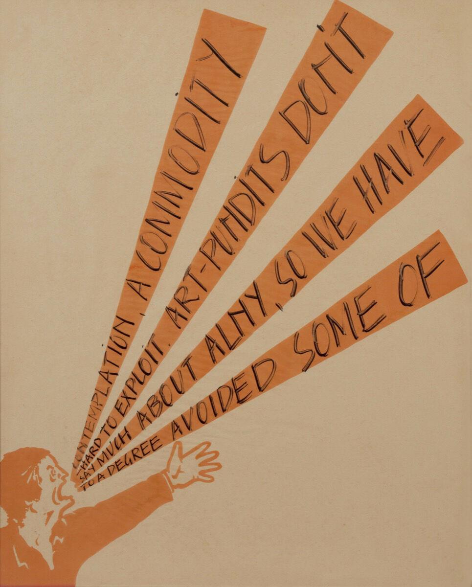 Art & Language, Shouting Men, 1974. Courtesy of the Château de Montsoreau - Musée d'Art Contemporain.