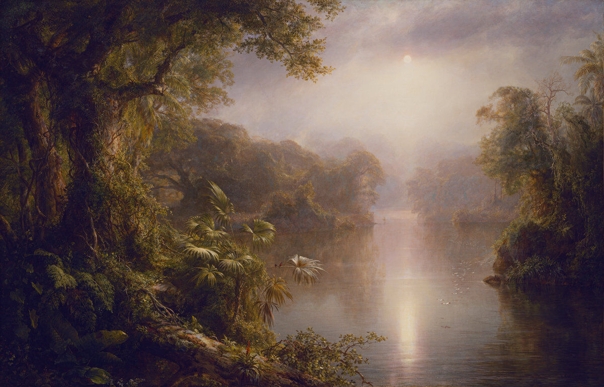 "Frederic Edwin Church, El Rio de Luz ""The River of Light,"" 1877. Image courtesy of the National Gallery of Art."
