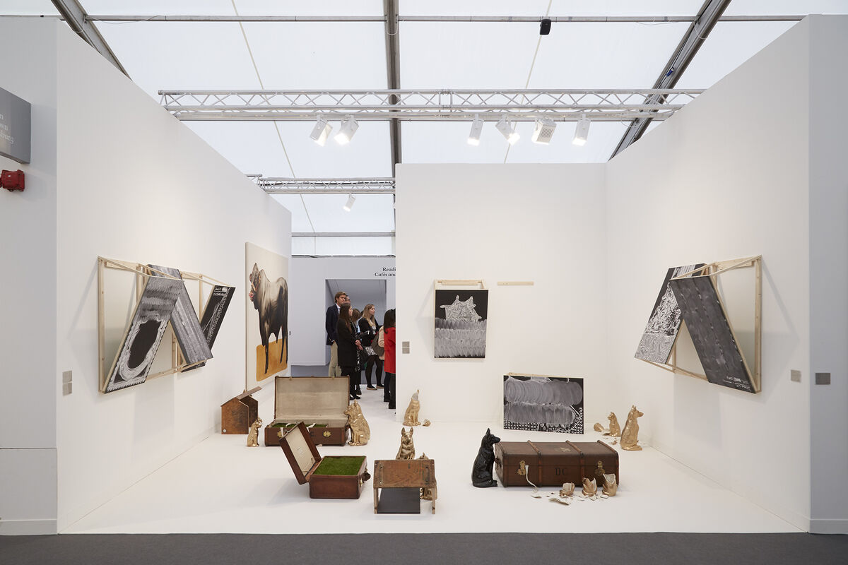 Installation view of Stevenson's booth at Frieze London 2015. Photo by Benjamin Westoby for Artsy.