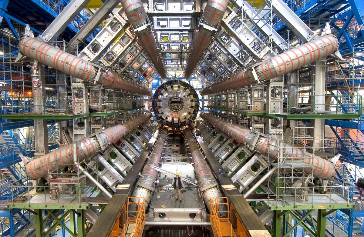 Dawn of the Large Hadron Collider. Photo: Maximilien Brice,CERN, via NASA.