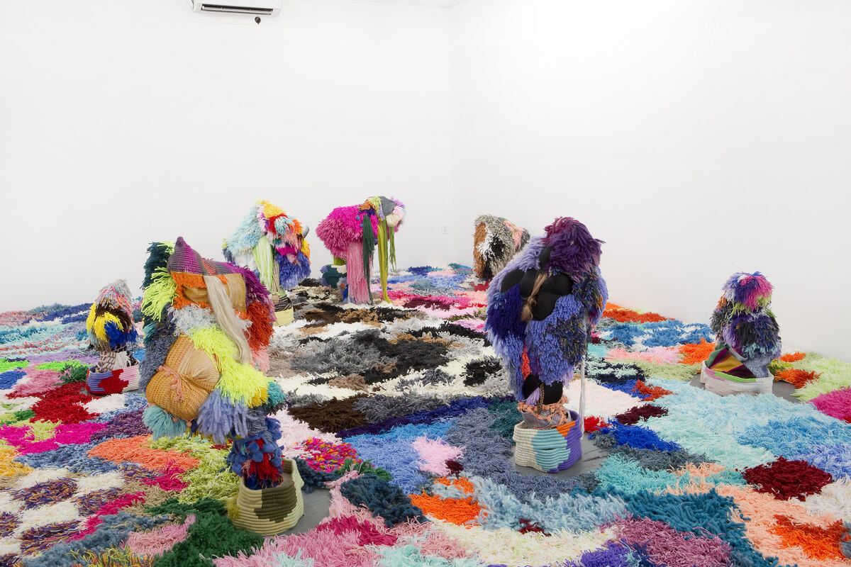 """Installation view of Sarah Zapata, """"If I Could,"""" at Deli Gallery, New York, 2018."""