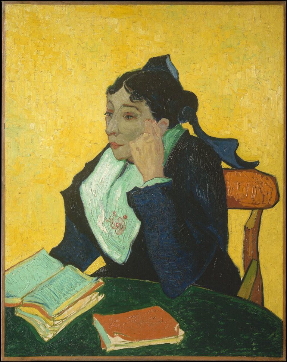Vincent van Gogh, L'Arlésienne: Madame Joseph-Michel Ginoux, 1888–89. Courtesy of the Metropolitan Museum of Art.