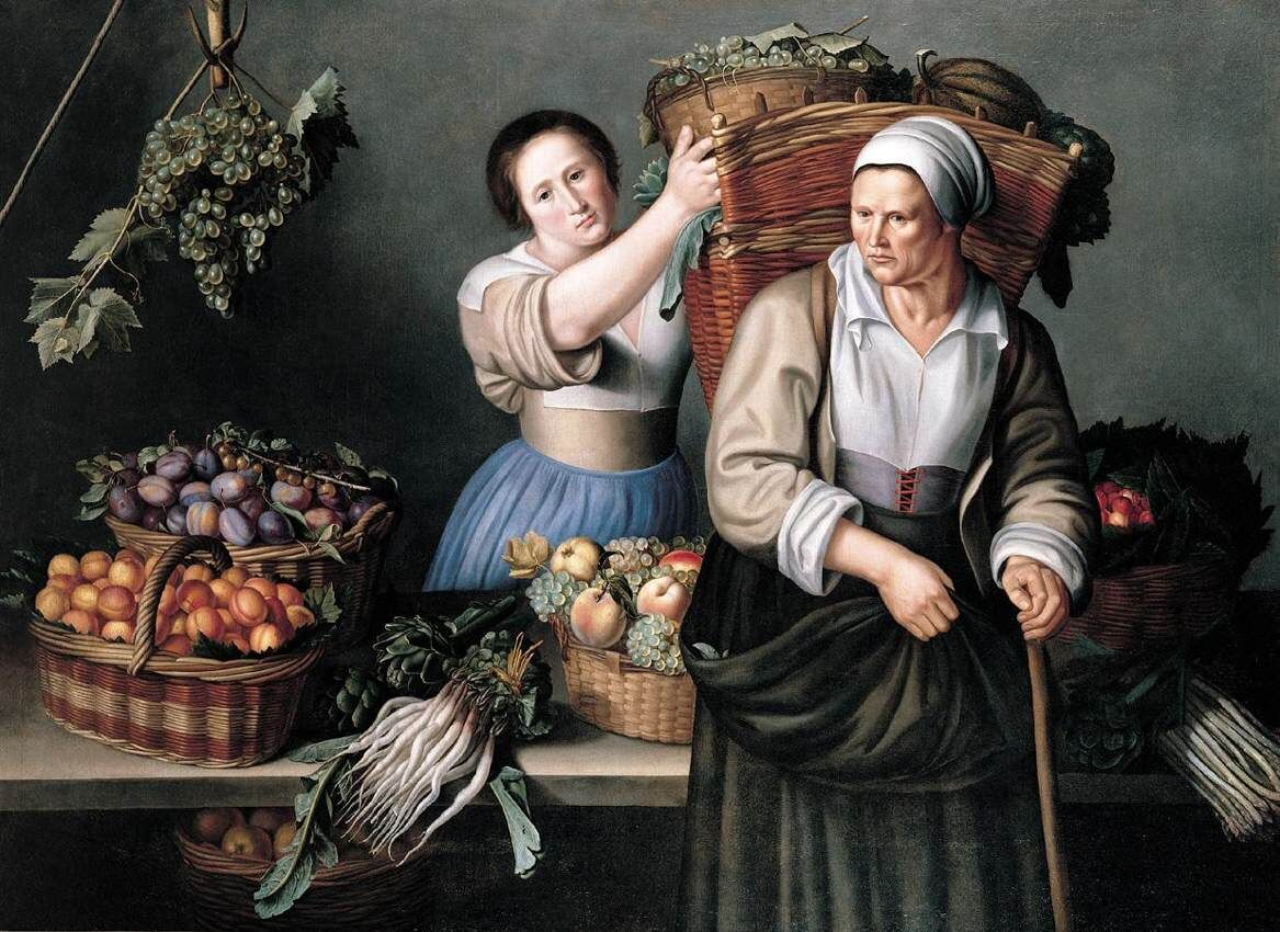 Louise Moillon, At the Market Stall, first half of 17th century. Photo via Wikimedia Commons.