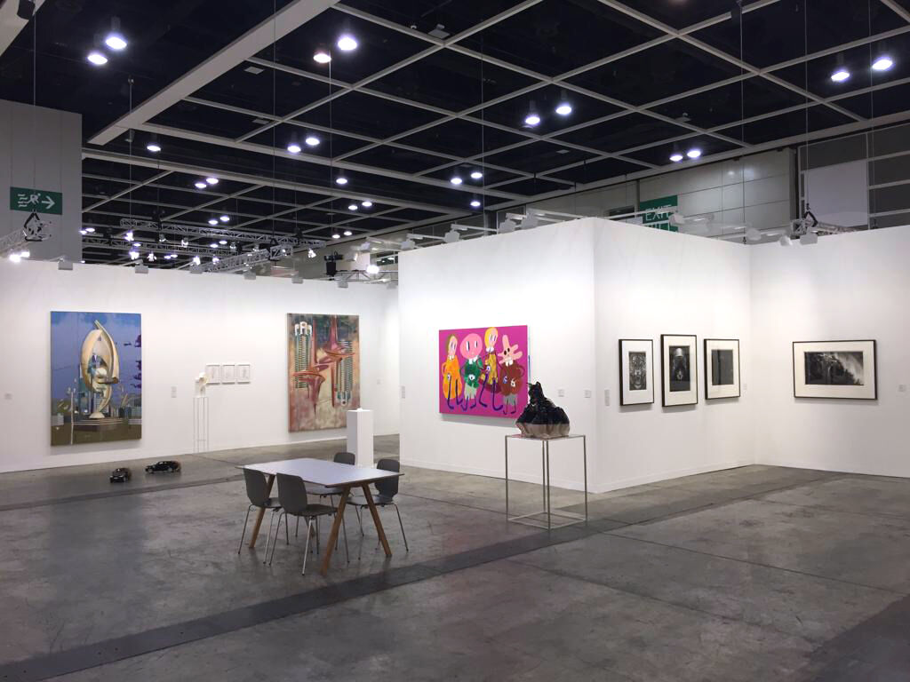 Installation view of Metro Pictures's booth at Art Basel in Hong Kong, 2019. Courtesy of Metro Pictures.