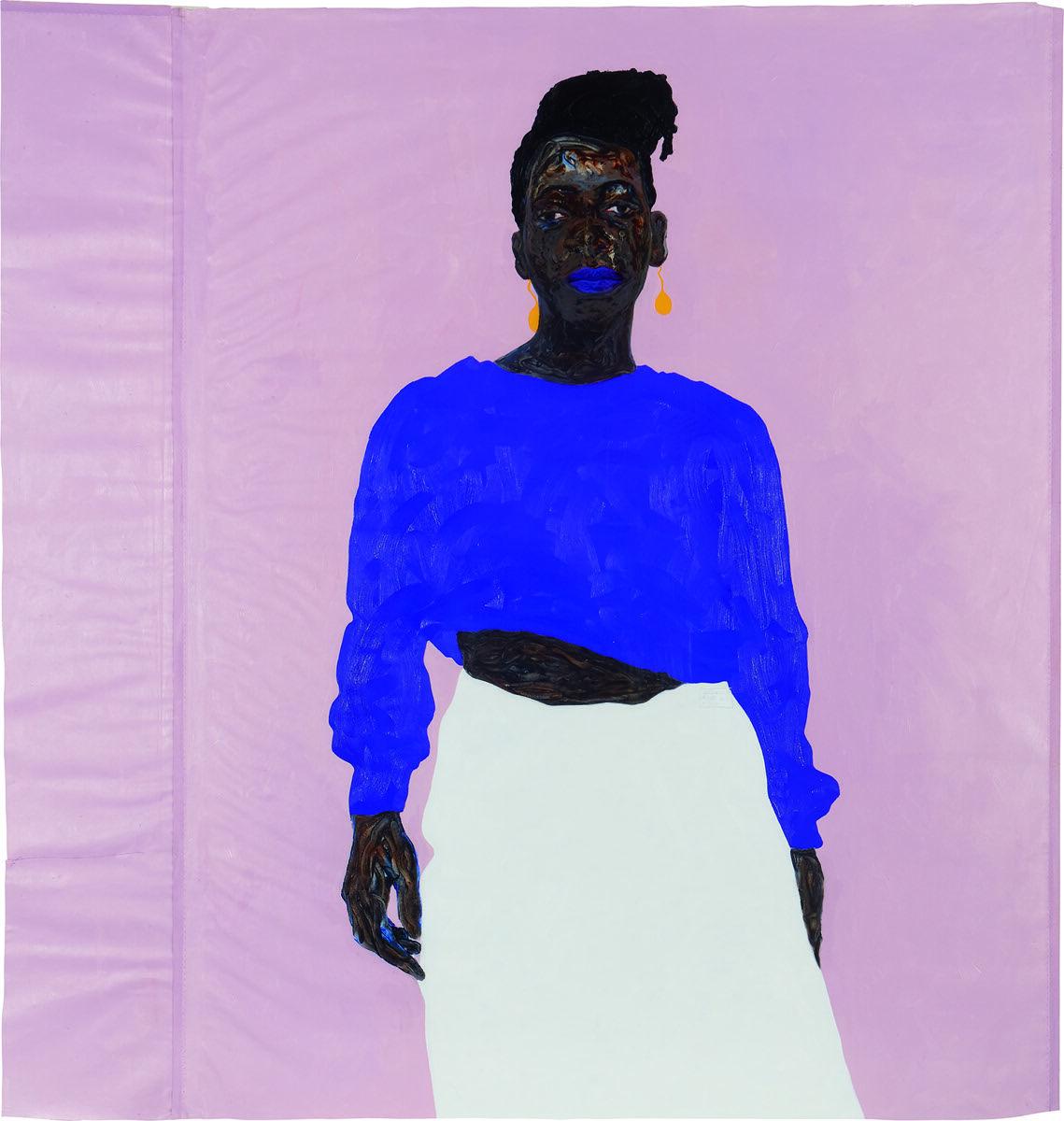 Amoako Boafo, Joy in Purple, 2019. Courtesy of Phillips.