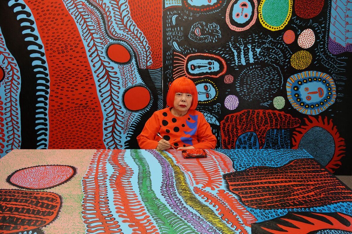 Portrait of Yayoi Kusama, 2017. © Yayoi Kusama. Courtesy of David Zwirner, New York; Ota Fine Arts, Tokyo/Singapore/Shanghai; Victoria Miro, London/Venice.