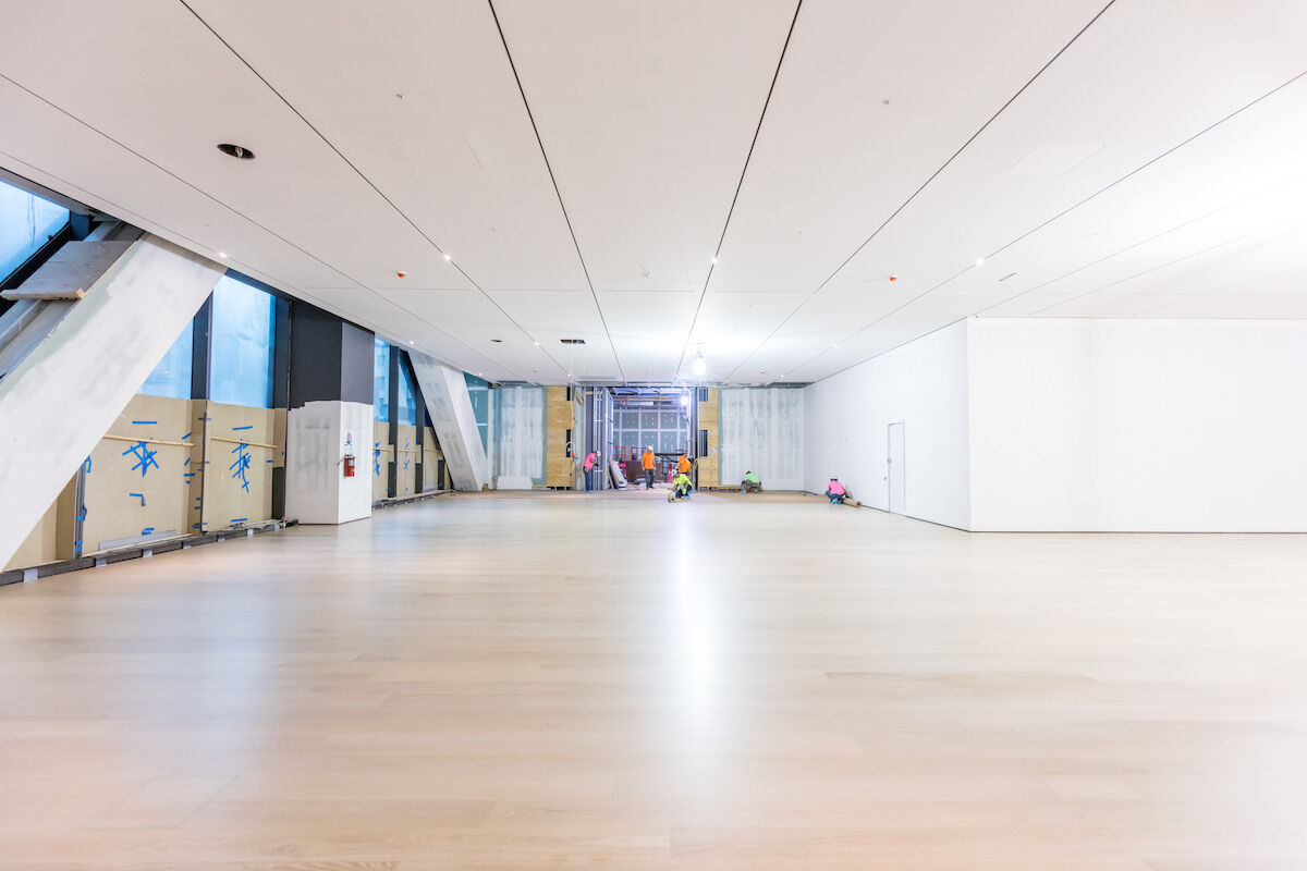 Construction progress in new gallery spaces at The Museum of Modern Art. Photo by Max Touhey, courtesy of Turner Construction Company.