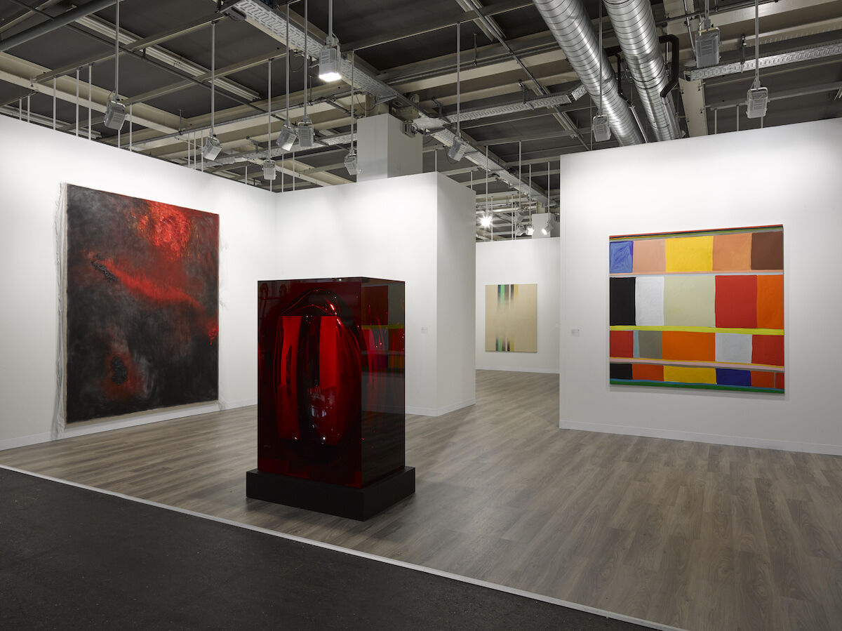 Installation view of Lisson's booth at Art Basel, 2019. Courtesy of the gallery.