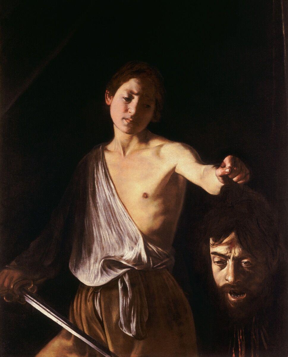 Caravaggio, David with the Head of Goliath , 1609–10. Image via Wikimedia Commons.
