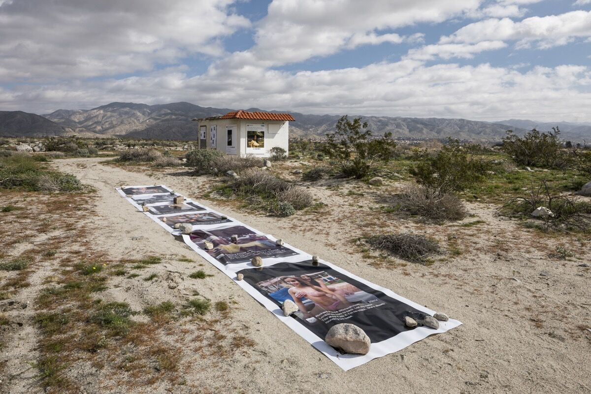 Installation view of Richard Prince,Third Place, at Desert X,2017. Photo by Lance Gerber, courtesy of the artist and Desert X.