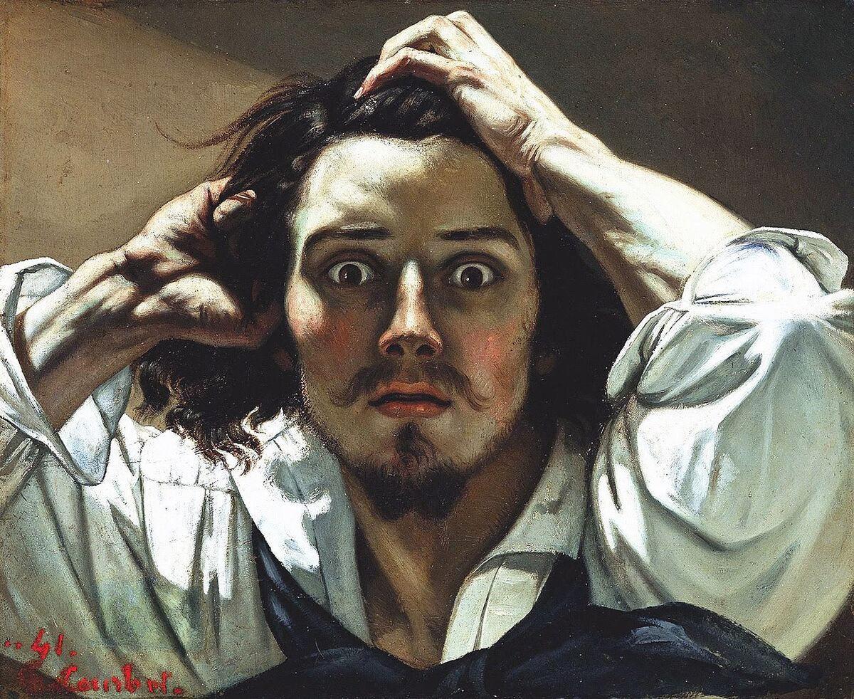 Gustave Courbet, The Desperate Man, 1843–45. Image via Wikimedia Commons.