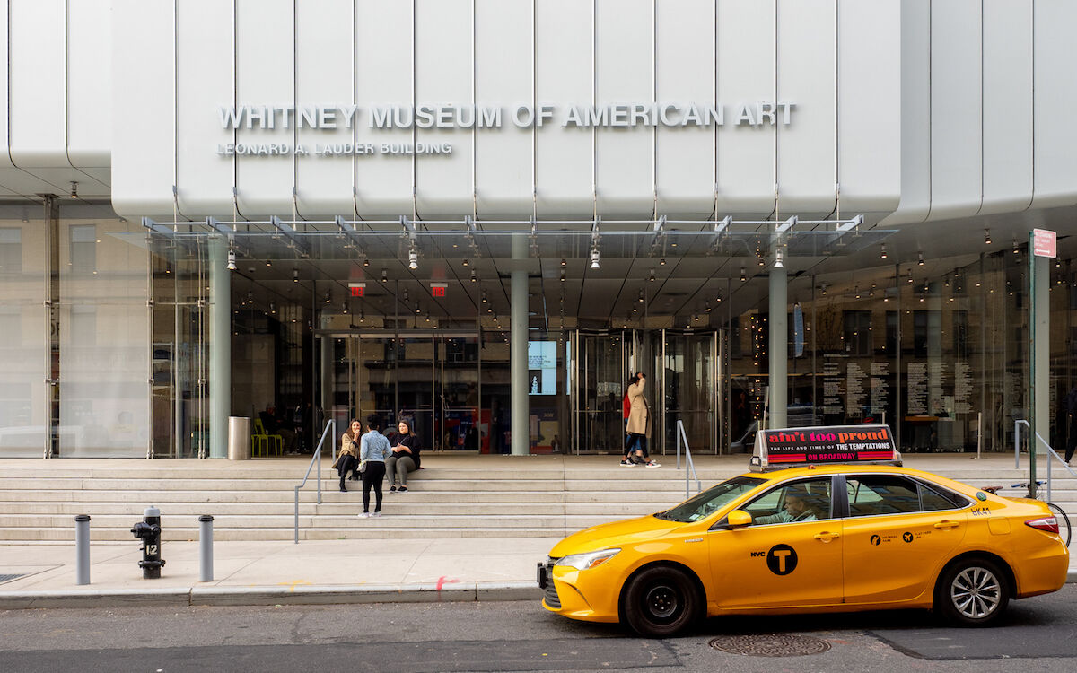 The main entrance to the Whitney Museum of American Art in New York. Photo by Ajay Suresh, via Wikimedia Commons.