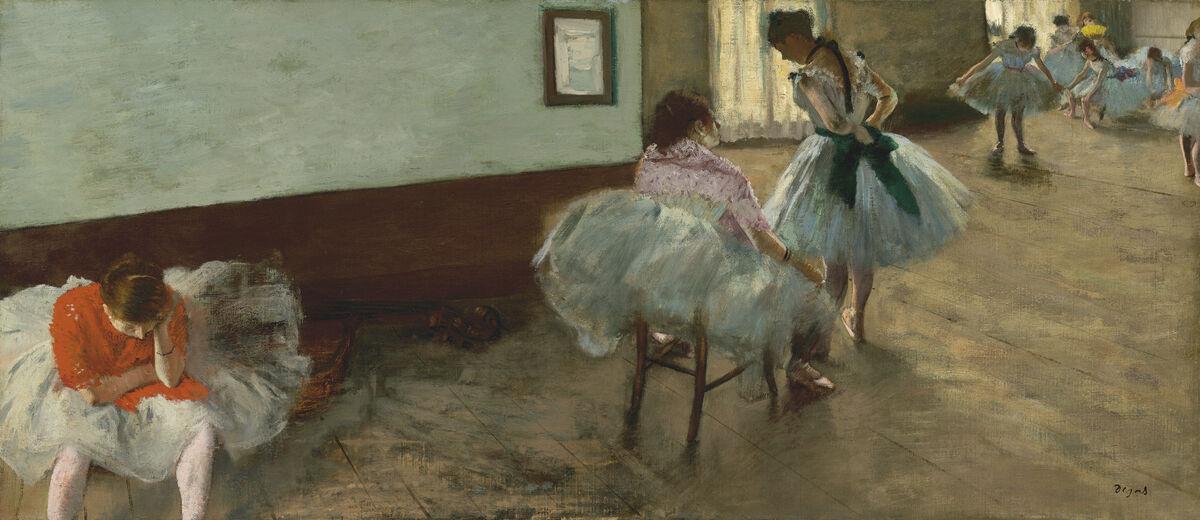 Edgar Degas, The Dance Lesson, ca. 1879. Image via Wikimedia Commons.