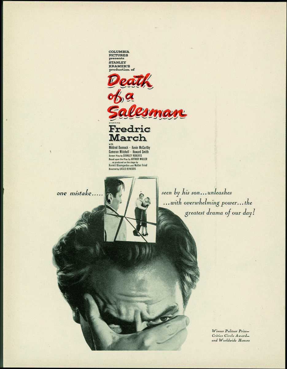 Saul Bass, Death of a Salesman, 1951. From Saul Bass: A Life in Film & Design. Courtesy of Laurence King Publishing.