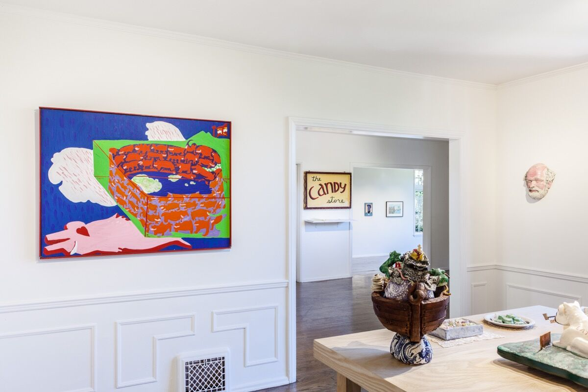 "Installation view of ""The Candy Store,"" at Parker Gallery, 2018. Courtesy of Parker Gallery."