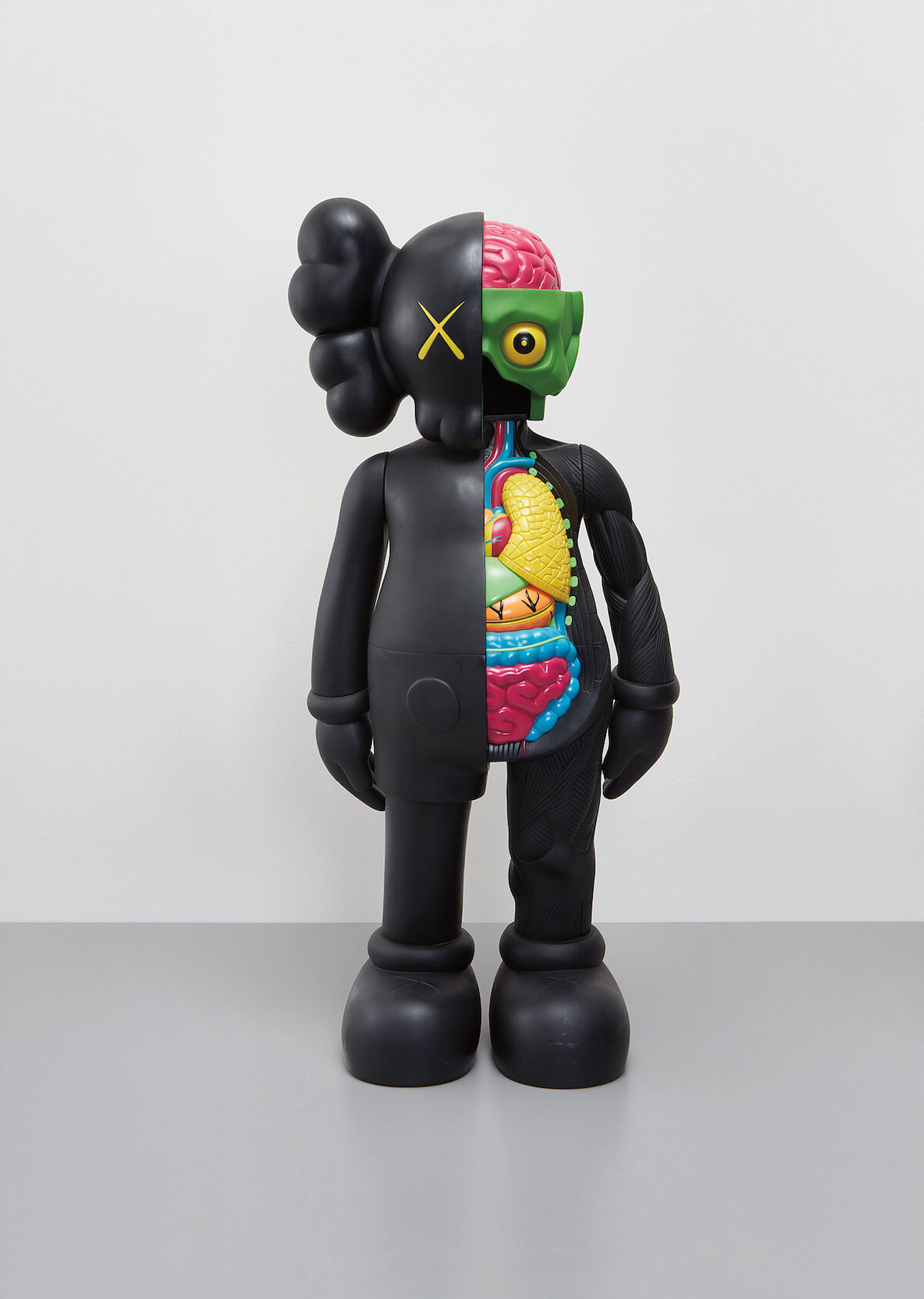"""KAWS, Four Foot Dissected Companion (Black), 2009, sold for $118,750, at Phillips """"New Now"""" sale. Image courtesy of Phillips."""