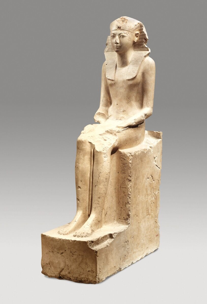 Seated Statue of Hatshepsut, ca. 1479–1458 B.C. Courtesy of the Metropolitan Museum of Art.