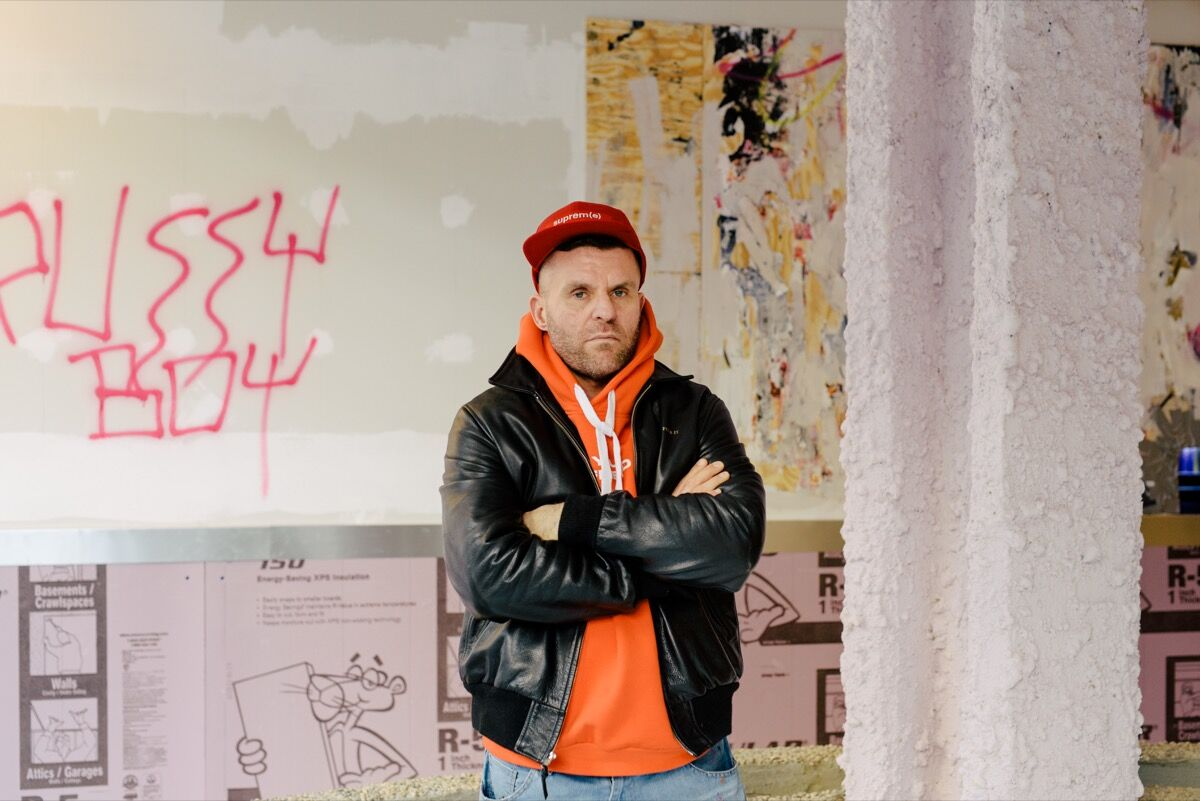 Portrait of Bjarne Melgaard at Red Bull Arts New York. Photo by Daniel Dorsa for Artsy.