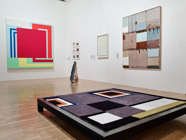 """""""Adventures of the Black Square,"""" Installation View. Courtesy of Whitechapel Gallery. Photo: Stephen White"""