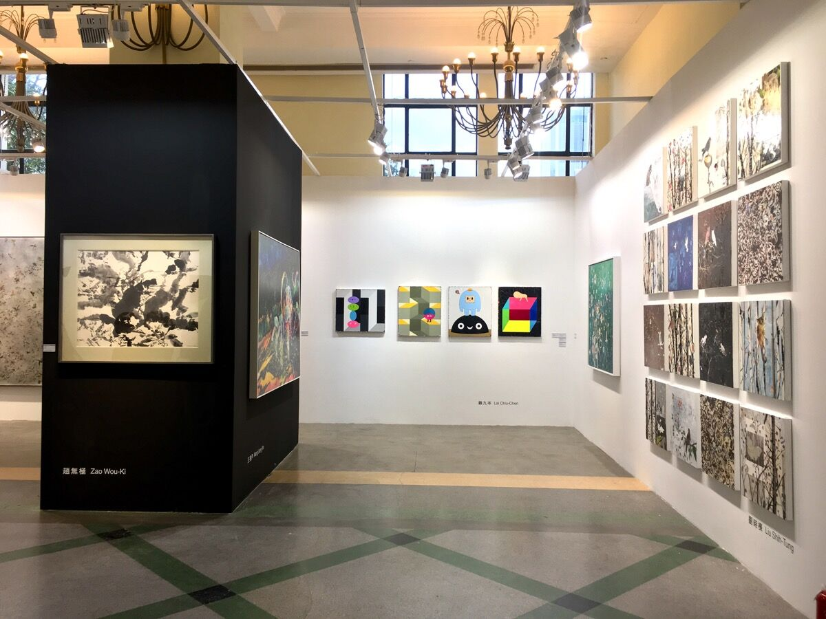 Installation view of Lin & Lin Gallery's booth at Art021, 2018. Courtesy of Lin & Lin Gallery.