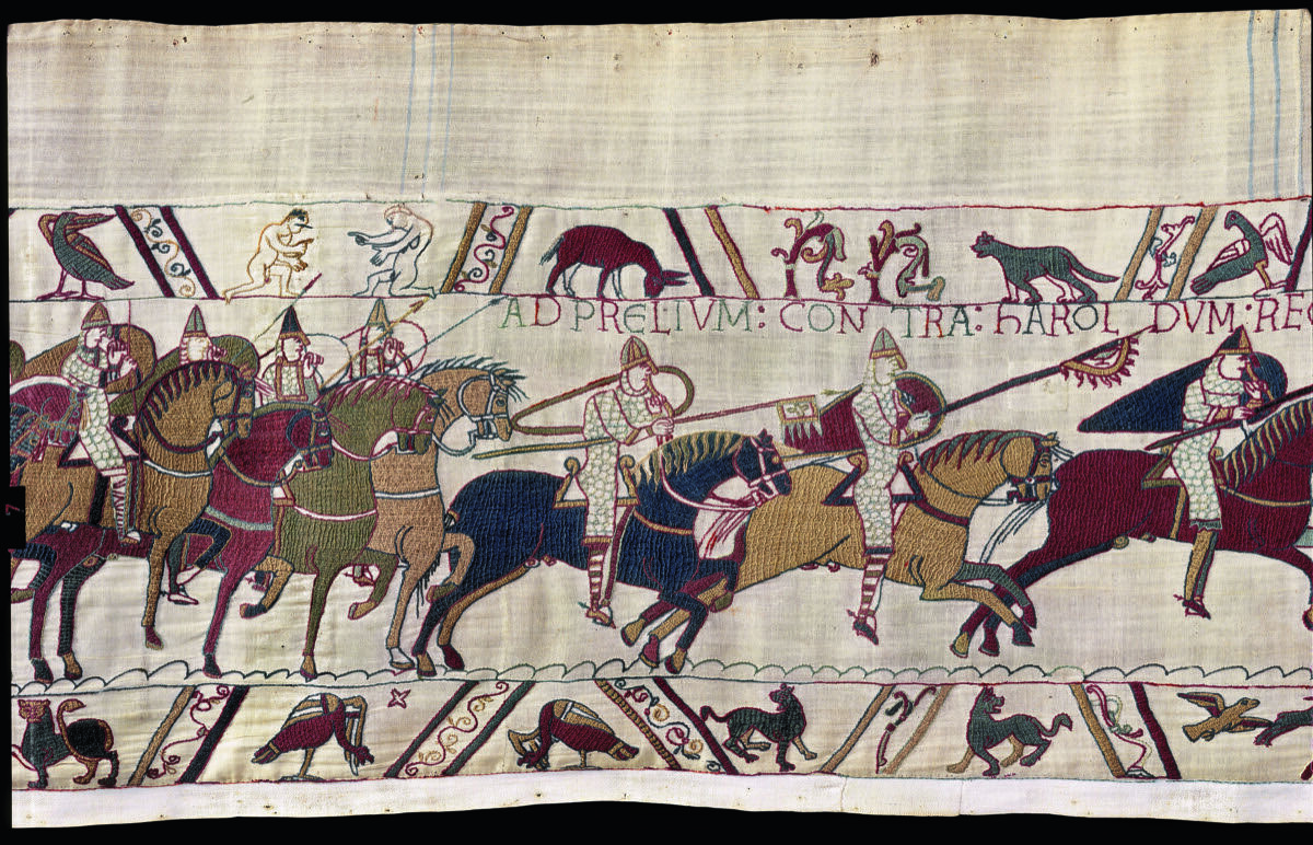 Bayeux Tapestry, ca. 11th century. © Bayeux Museum. Courtesy of the Ville de Bayeux.