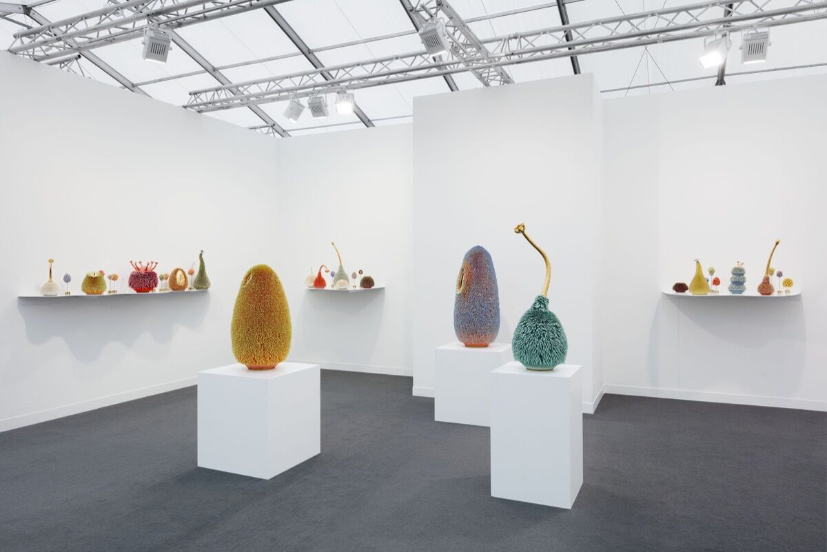 Installation view of Marianne Boesky's booth at Frieze London, 2019. Photo by Andrea Rossetti. Courtesy of Marianne Boesky Gallery.
