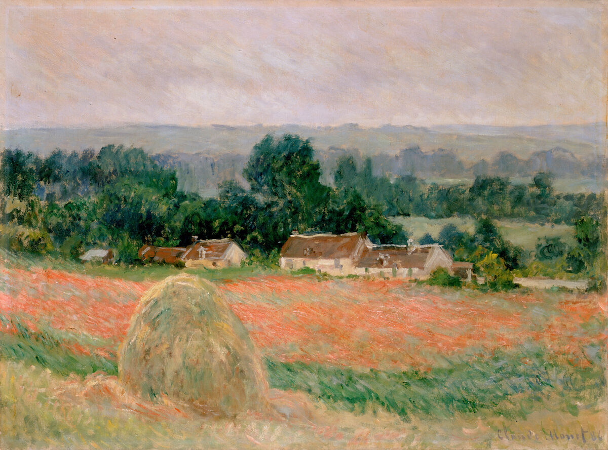 Claude Monet, Haystack at Giverny, 1886. Courtesy Hermitage Museum, via Wikimedia Commons.