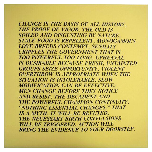 Jenny Holzer,  Inflammatory Essays I, 1982. © 1982 Jenny Holzer. Courtesy of the artist and Carolina Nitsch Contemporary Art.