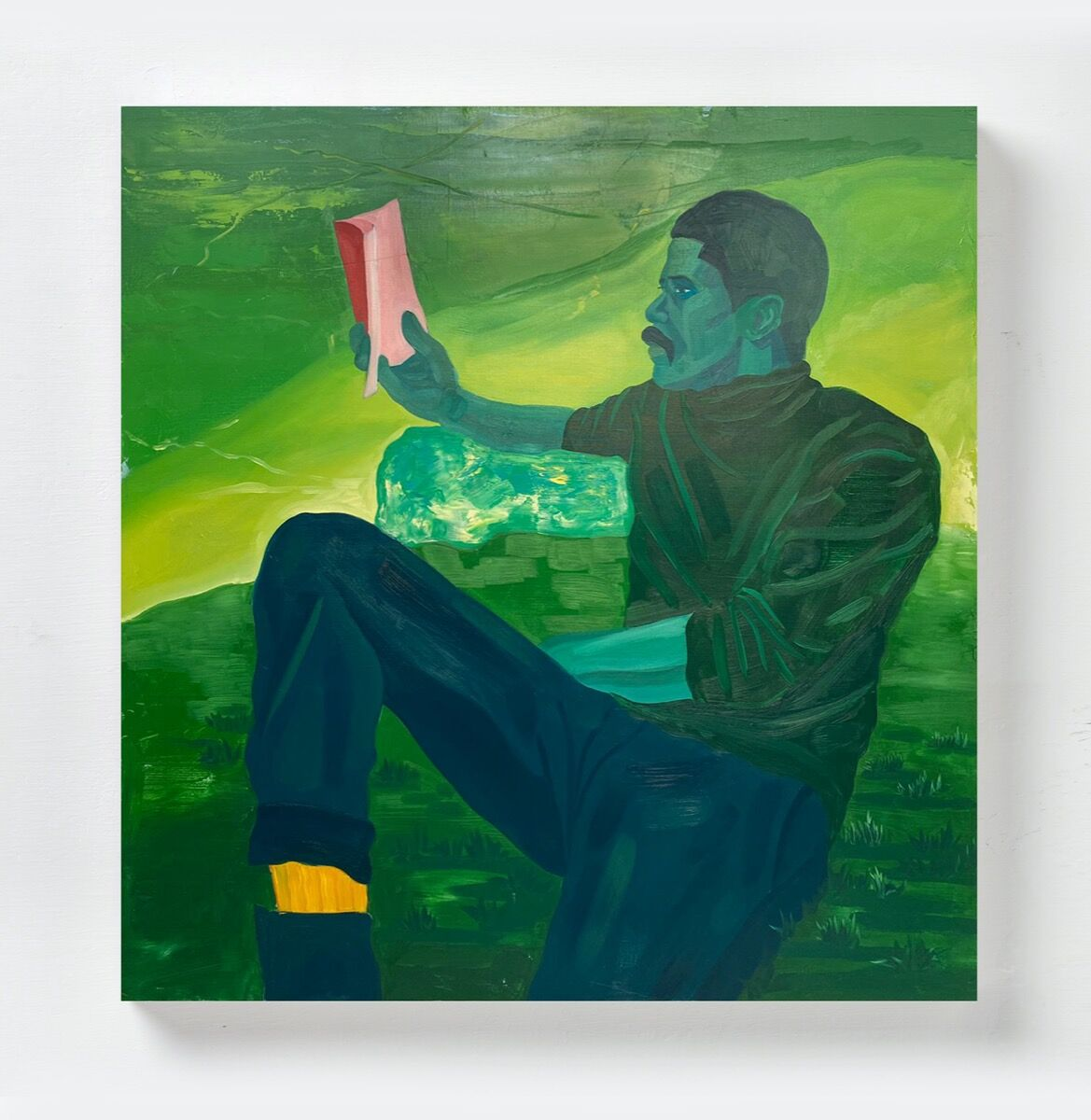 Dominic Chambers, Untitled (Kevin in Green), 2020. Courtesy of the artist and Luce Gallery.