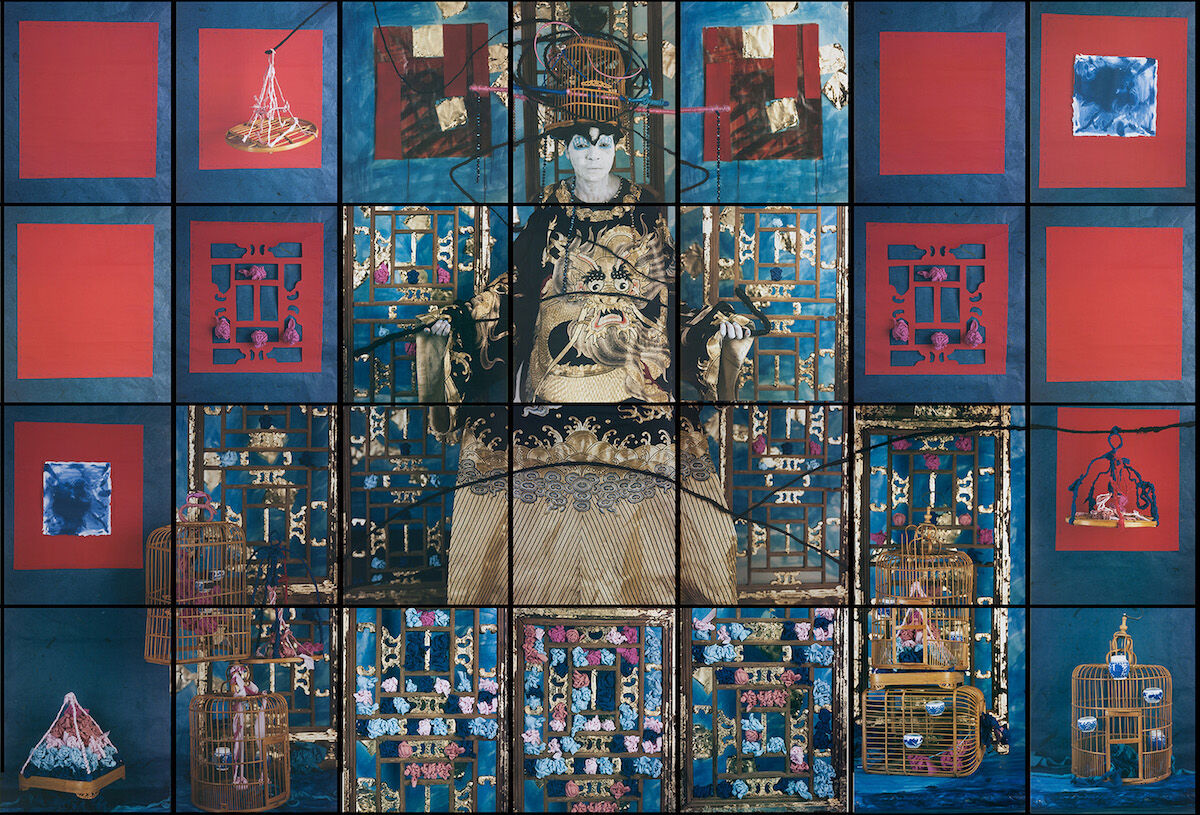 María Magdalena Campos-Pons, Finding Balance, 2018, 28 Polaroid prints, each mounted on aluminum. Courtesy of the artist.